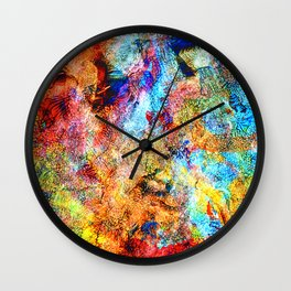 abstract drawing by hand oil paints. background, texture Wall Clock