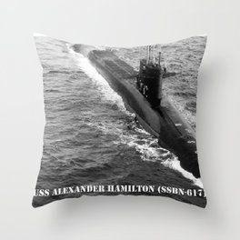 USS ALEXANDER HAMILTON (SSBN-617) Throw Pillow