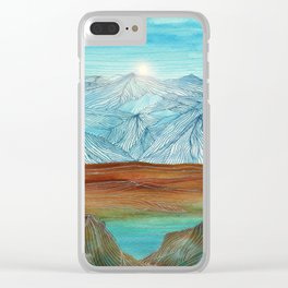 Lines in the mountains XI Clear iPhone Case