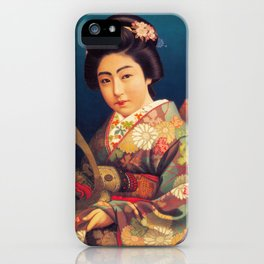 Vintage Japanese Beer Ad - Samurai Kamishimo iPhone Case