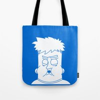 my mad fat diary Tote Bags featuring Fat Kid by Jonas Pelzer