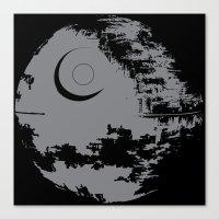 death star Canvas Prints featuring Death Star by Krakenspirit