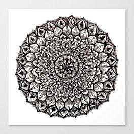 Sand Dollar-Black Canvas Print
