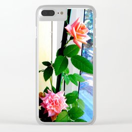 Window Seated Roses Clear iPhone Case