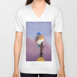 Backyard Bluebird Unisex V-Neck
