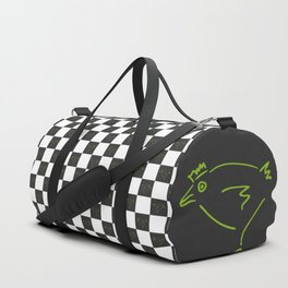 Secret Chicken Checks - BW Duffle Bag