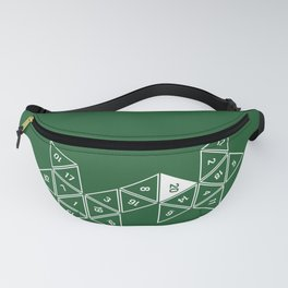 Green Unrolled D20 Fanny Pack