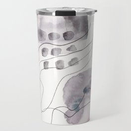 180805 Subtle Confidence 6| Colorful Abstract |Modern Watercolor Art Travel Mug