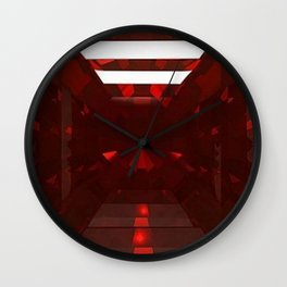 January Babies  Garnet Cut Gemstone Wall Clock