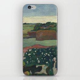 Paul Gauguin - Haystacks in Brittany iPhone Skin