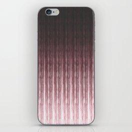 Brown vertical stripes . iPhone Skin