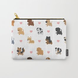 Dog Breeds with Hearts Carry-All Pouch