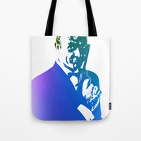 james bond Tote Bags featuring James Bond - True Blue by D77 The DigArtisT