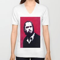 nick cave V-neck T-shirts featuring Nick Cave by James Courtney-Prior