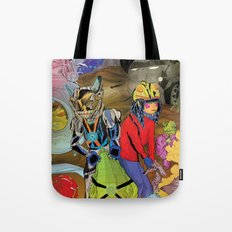 Living In a World of Monsters Tote Bag