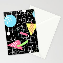 Memphis Style Vibes (Dark) Stationery Cards