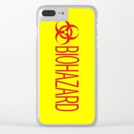 HAZMAT: Biohazard (Red & Yellow) Clear iPhone Case