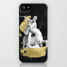 Herculean Waves of Gold iPhone Case