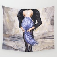 saturn Wall Tapestries featuring Saturn Returns by Artist Andrea