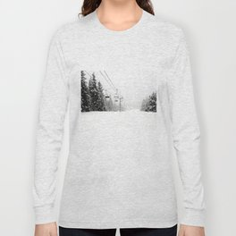 Lifts waiting for action in the snow Long Sleeve T-shirt