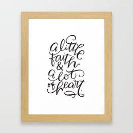 Faith + Heart Framed Art Print