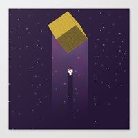 fez Canvas Prints featuring -Fez Beam me up- by MREdesign