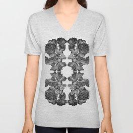Fungi design by Chrissy Wild B&W Unisex V-Neck