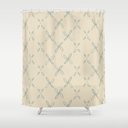 Abstract Astral Pattern in Yellow & Green Shower Curtain