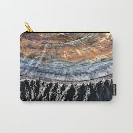 Tree Stump Circle Texture Carry-All Pouch