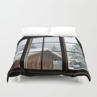 cabin Duvet Covers featuring Cabin by JacDodge