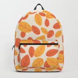 Lovely autumn leaves pattern illustration Backpack