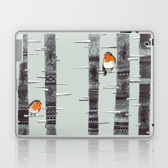 Robin Trees Laptop & iPad Skin