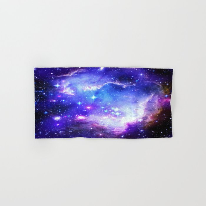 Galaxy Nebula Blue Hand & Bath Towel