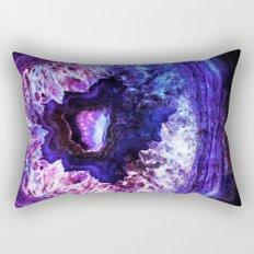 Cobalt Amethyst Geode Rectangular Pillow