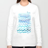 swim Long Sleeve T-shirts featuring Swim by Rebecca Pomroy