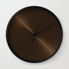 Dark Brown Bronze Metal Wall Clock