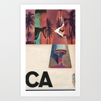 west coast Art Prints featuring West Coast by Eric Amling