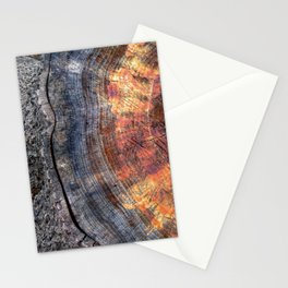 Macro Tree Stump Ring Stationery Cards