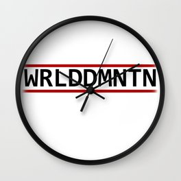 WORLDDOMINATION Wall Clock