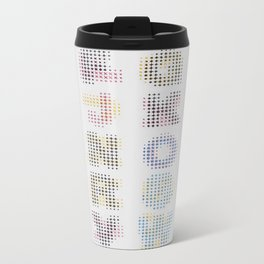 CMYK Alphabet Metal Travel Mug