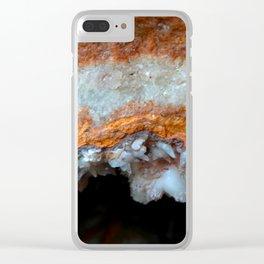 Travertine mineral Clear iPhone Case