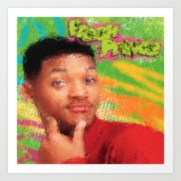 fresh prince Art Prints featuring Will Smith - Fresh Prince by Alice Z.