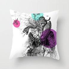 Le rêve de Madame K. Throw Pillow