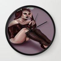 bunny Wall Clocks featuring BUNNY  by Enola Jay