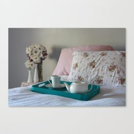 Tea in Bed Canvas Print