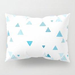 Triangles patterned random small blues Pillow Sham