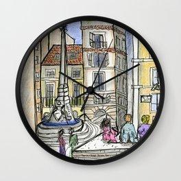 City Landscapes - Piazza della Rotonda - Pantheon - Rome - Italy Wall Clock