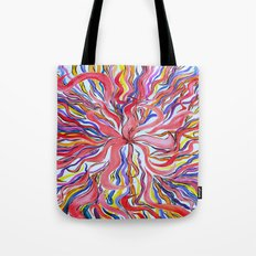 Psychedelic Flora Tote Bag