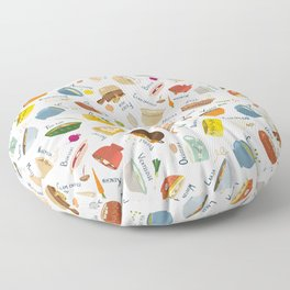 Soups of the World Floor Pillow