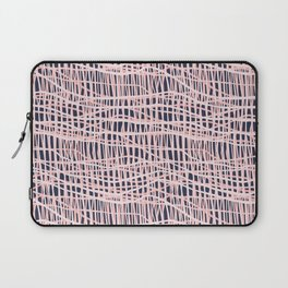 Net Blush on Navy R Laptop Sleeve